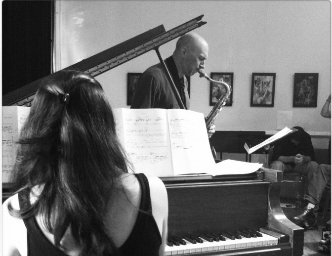 Duet with Eloá Gonçalves at Hudson Opera House in 2012.